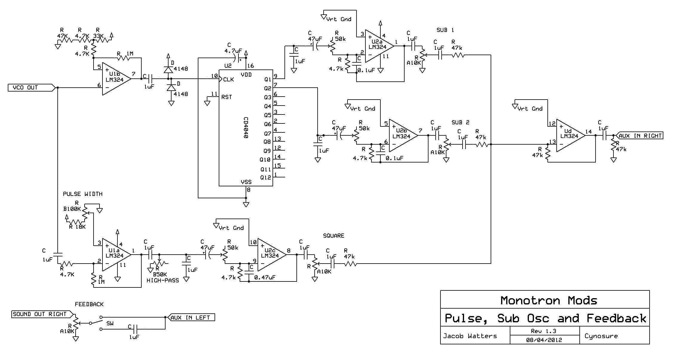 on korg monotron schematic